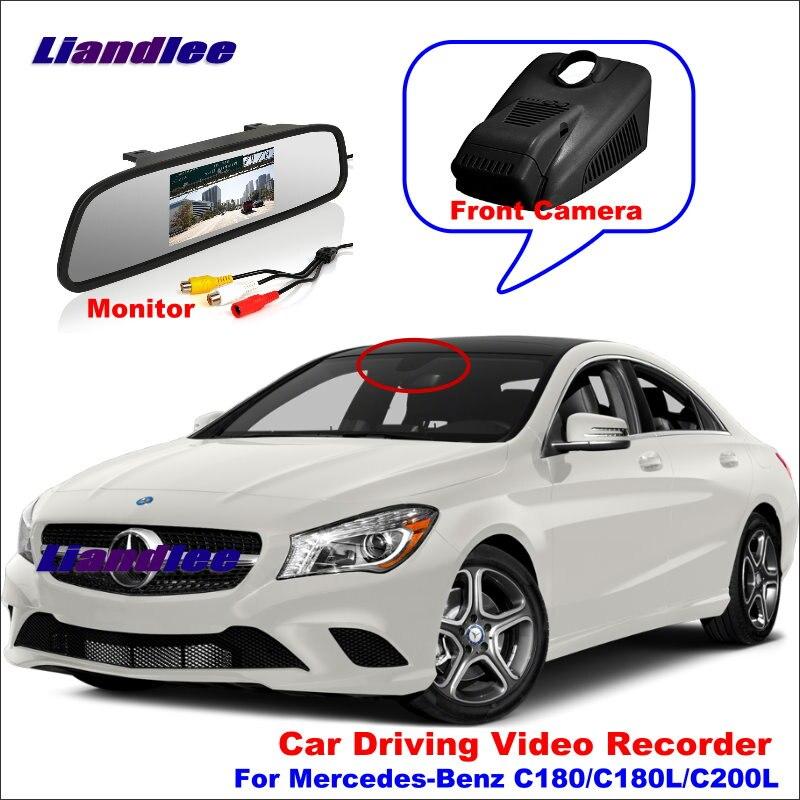 Liandlee Car DVR Front Camera Driving Video Recorder Mirror Monitor For Mercedes Benz C180 C180L C200L HD AUTO CAM