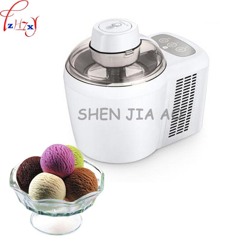 1pc 220V 90W Home mini fruit ice cream machine automatic soft / hard ice cream machine children diy ice cream machine