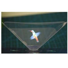 Zerosky Holographische Rahmen Pyramide Durch Handy Smartphone 3D Dispaly Box Holographische Display Hologramm 3D Schaufenster