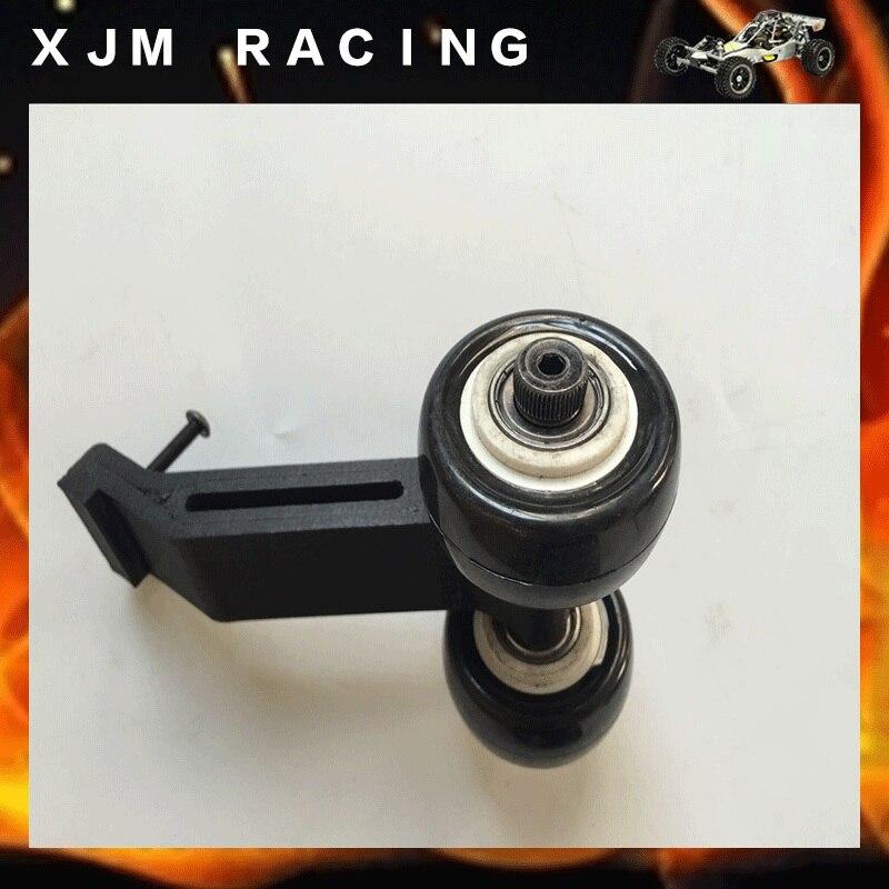 Barra de rueda con 2 ruedas nylon importado PolyMax para Traxxas X-MAXX XMAXX