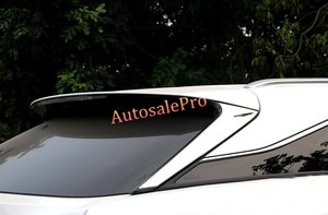 For LEXUS RX200t RX450h 2016 Stainless Steel Rear Spoiler Window Upper Triangle Sill Cover Trims Chrome