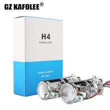 GZ KAFOLEE voiture H xénon H4   6000K 4300k 8000K, Mini lentille de projecteur LHD RHD pour phare HID, Type H4, installation facile 55W 10000LM
