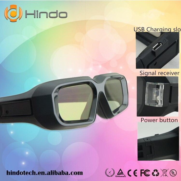 Lentes 3D con obturador activo, 2 unidades, universales, recargables, RF, Bluetooth, para Sony, Panasonic, Sharp, Toshiba, Samsung, proyector de TV