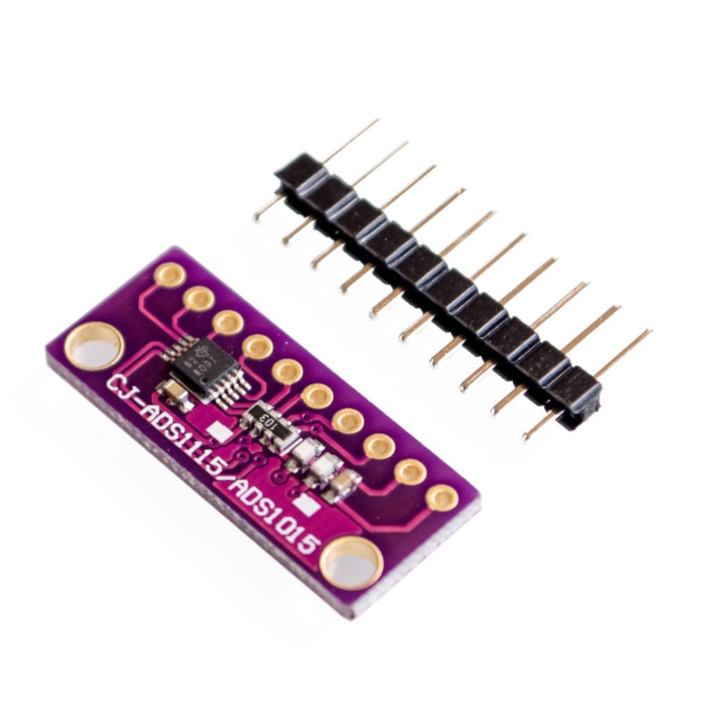 Módulo do canal de i2c ads1115 ads1015 16 bits adc 4 com amplificador programável 2.0 v do ganho a 5.5 v rpi