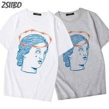 Michelangelo David Tattoo Print T Shirts Harajuku men Streetwear Casual Loose Short Sleeve Tops Tees Male Street Tshirts M-3XL