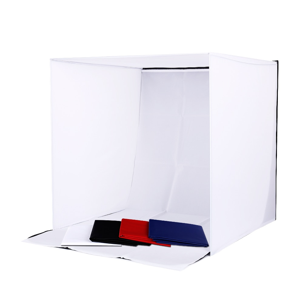 Profession Photo Studio soft box Shooting Tent Softbox Cube Box 60 x 60cm photo light tent+portable bag+ 4 Backdrops lightbox