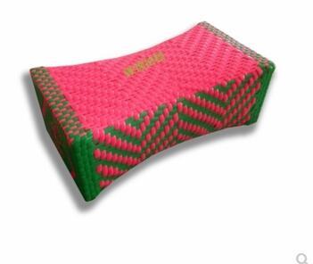 Almohada de verano clásica tejida a mano, cojín de almohada de mimbre, almohada de un solo cuello para dormir