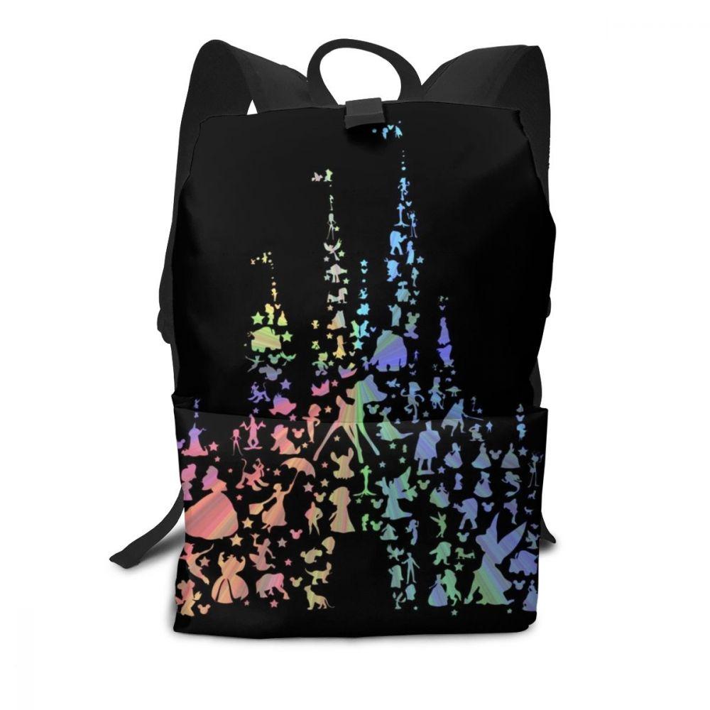 Рюкзак с Микки Маусом, самый счастливый замок на земле, рюкзаки, трендовая Подростковая сумка, высокое качество, узор, университетские мульти карманные сумки