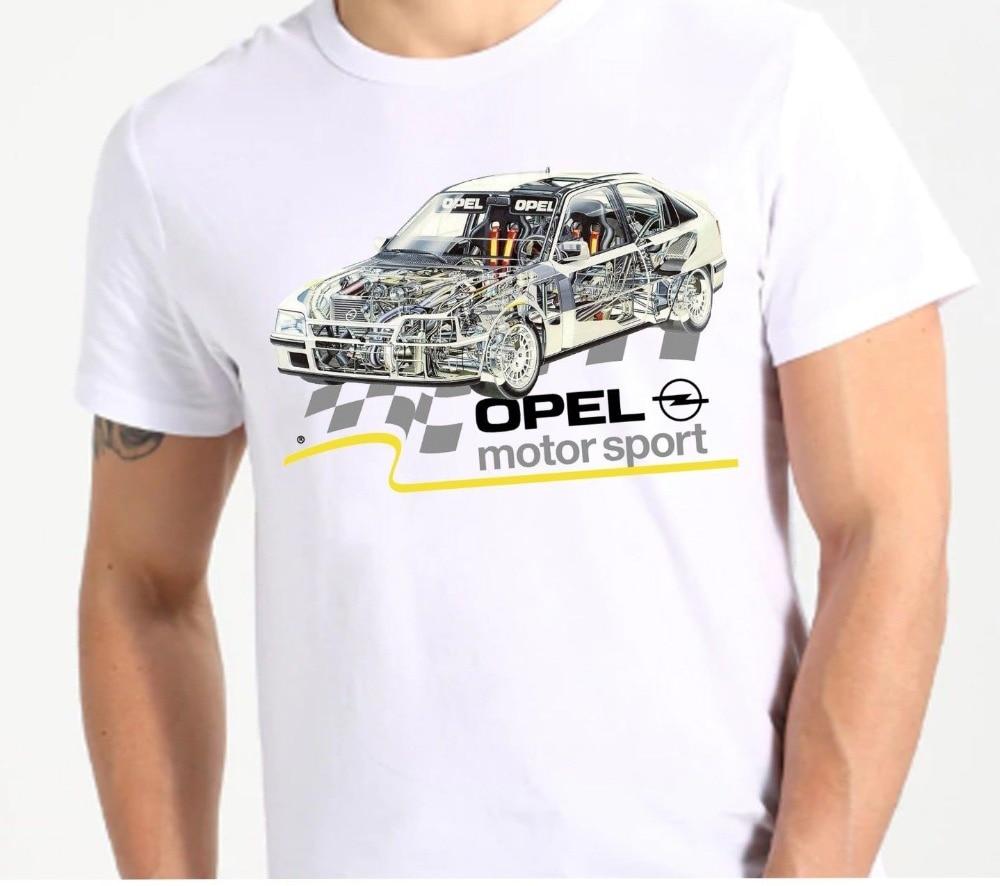 2019 Fashion Summer T-shirt  Germany Classic Legend Car opel kadett Casual Short Sleeve