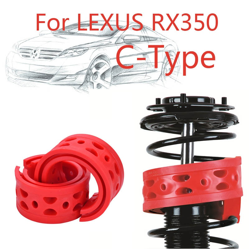 1 par de amortiguadores delanteros Jinke tamaño C potencia de parachoques amortiguador de muelle para Lexus RX350