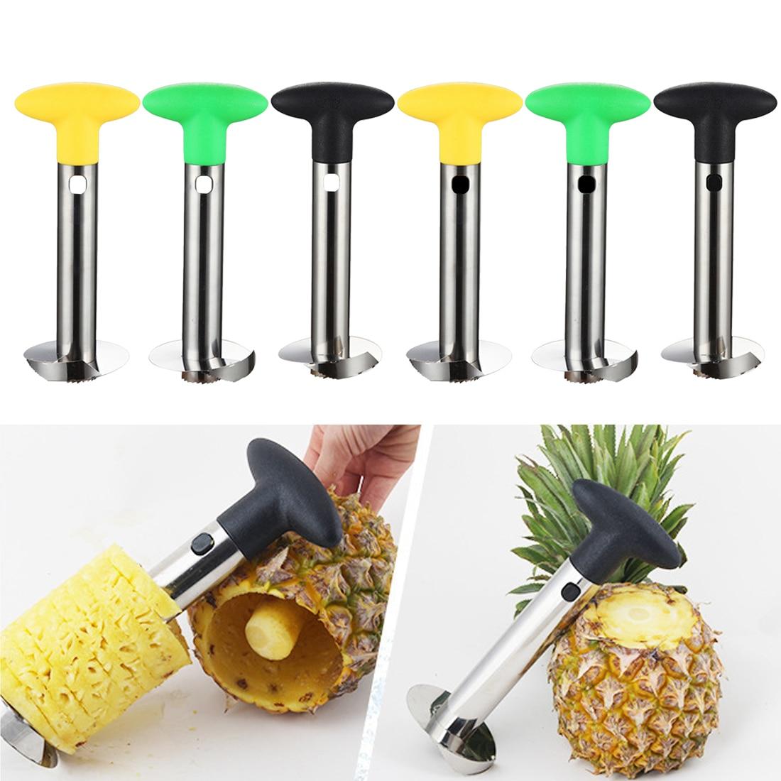 Stainless Steel Pineapple Peeler Cutter Slicer Corer Peel Core Tools Fruit Vegetable Knife  Kitchen Gadget High Quality