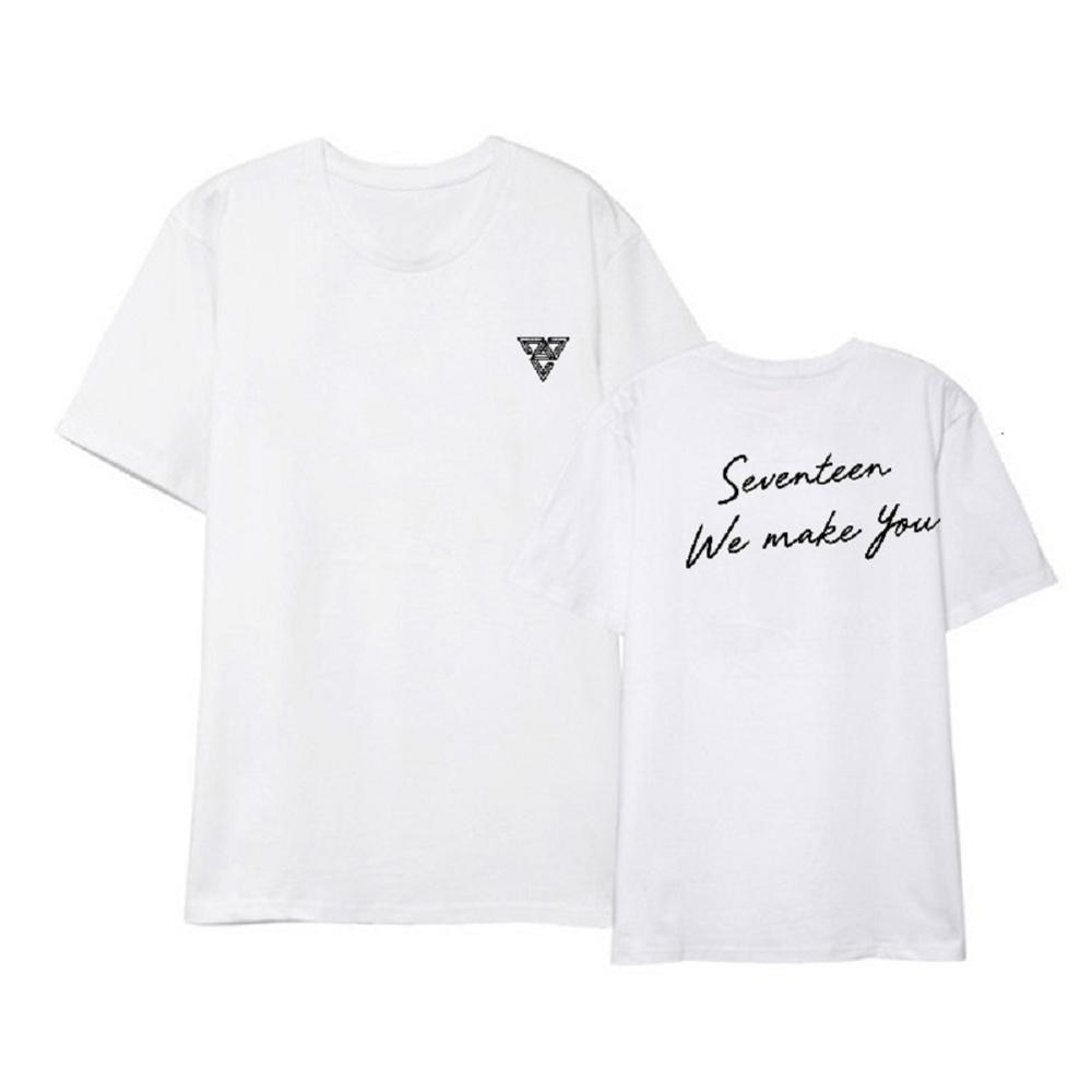 Mainlead Kpop 17 camisetas TE HACEMOS Vernon The8 Woozi cuello redondo Tops