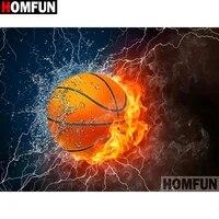 HOMFUN     peinture diamant theme  Basketball scenic   broderie complete 5D  perles carrees ou rondes  decoration de maison  bricolage  points de croix  A19925