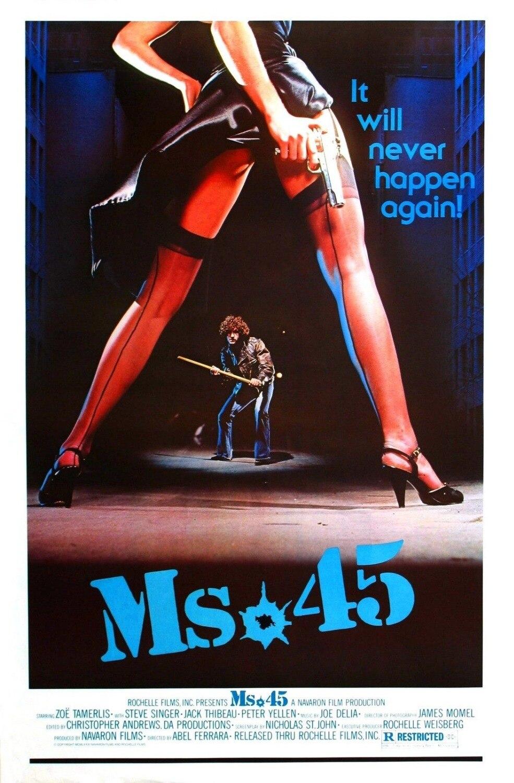 Cartel de película MS. 45 (1981) aka Rape Squad, cartel de pintura decorativa de seda de 24x36 pulgadas