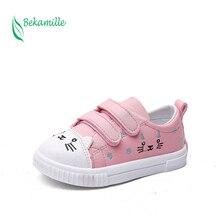 Bekamille-chaussures de Sport pour enfants   2 couleurs, chaussures princesse de course, tendance, design de dessin animé de chat, pour enfants