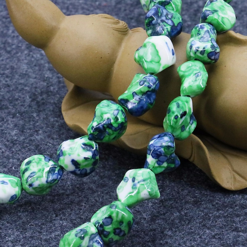 8-12mm Multicolor Verde Riverstones Artesanato de Chuva Flor Pedra Rainbow Irregular Soltas DIY Beads 15 polegadas Moda Jóias fazendo