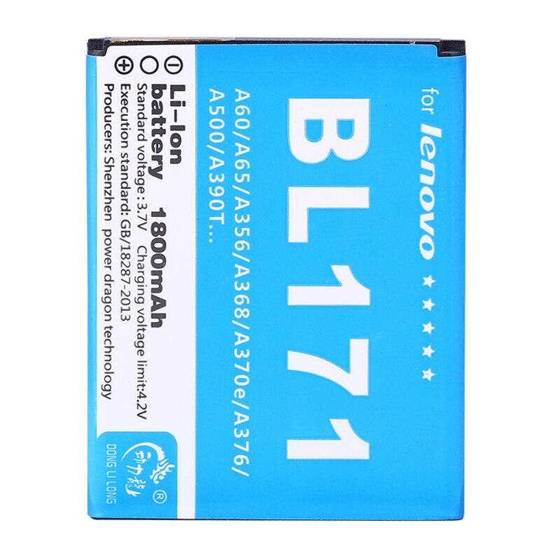 Nueva 1800 mAh BL171 batería para Lenovo A356 A368 A390 A390T A376 A370E A500 A60 A65 A319