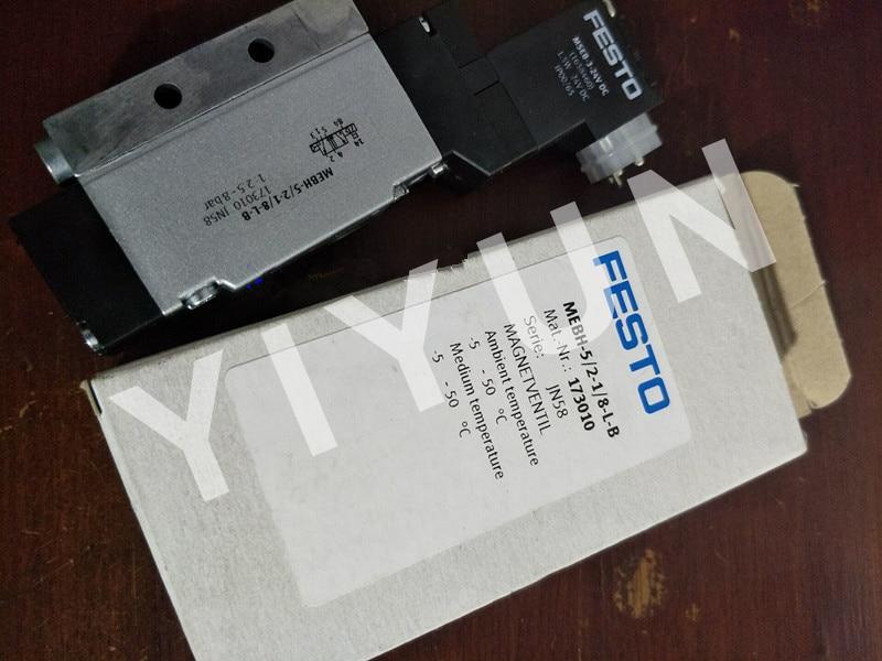 MEBH-5/3E-1/8-B 173022 MEBH-5/2-D-1-ZSR-FR-C 184494 MEBH-5/2-1/8-L-B 173010 FESTO Magnet ventil Pneumatische komponenten