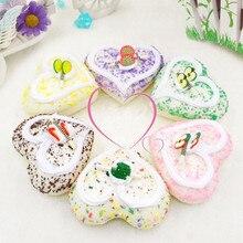 5 шт./лот сжимаемые сладкие магниты на холодильник с сердечком, искусственные игрушки для пищевых продуктов, искусственные продукты для дом...