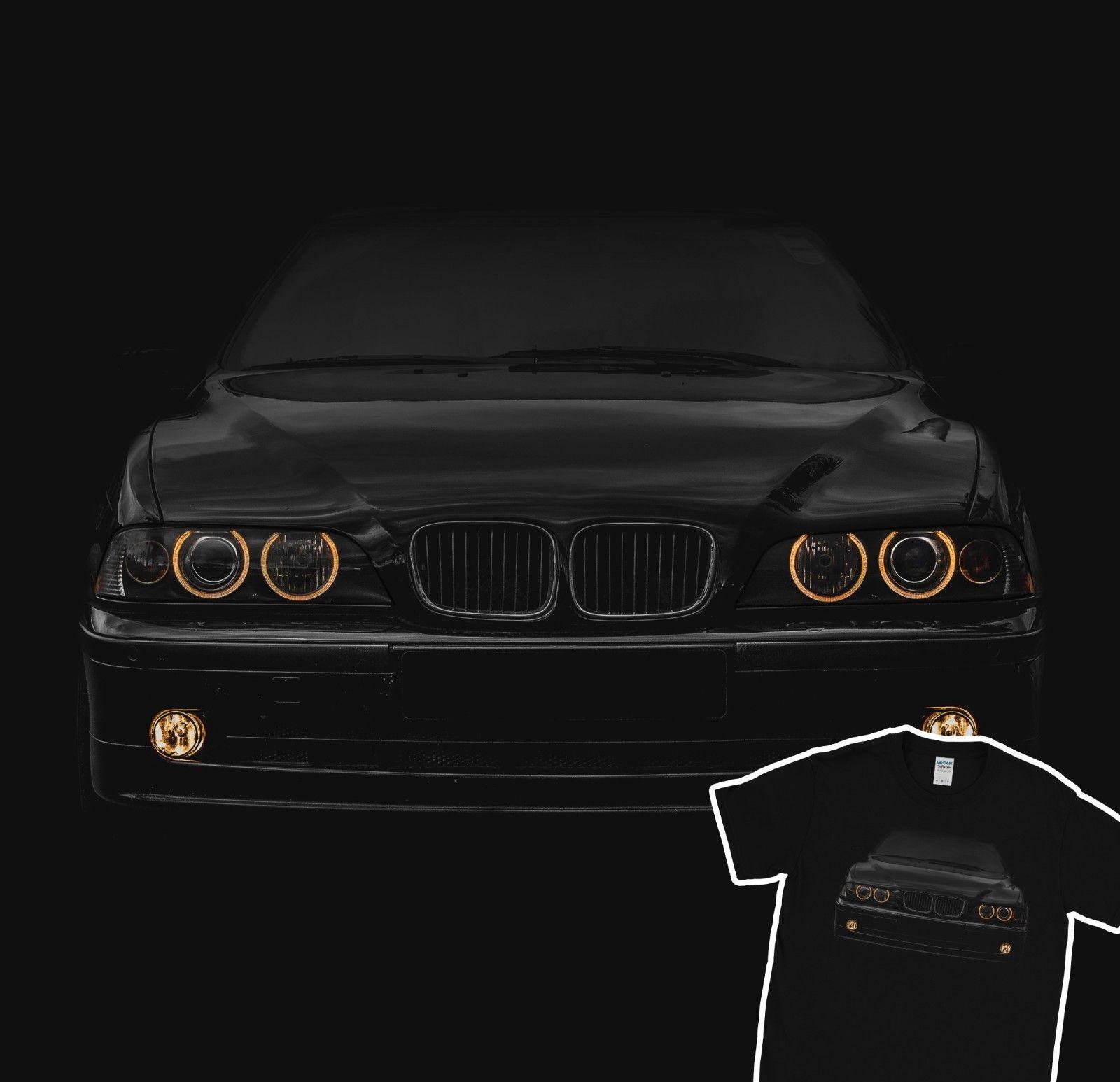 German Car E39 Yellow Headlights T-Shirt Holiday Gift Christmas Birthday Present 2019 New Brand Cheap Sale Cotton Funny Shirts