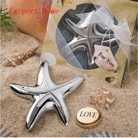 wholesale 100pcs bridal shower beach theme starfish design beer bottle opener wedding favors