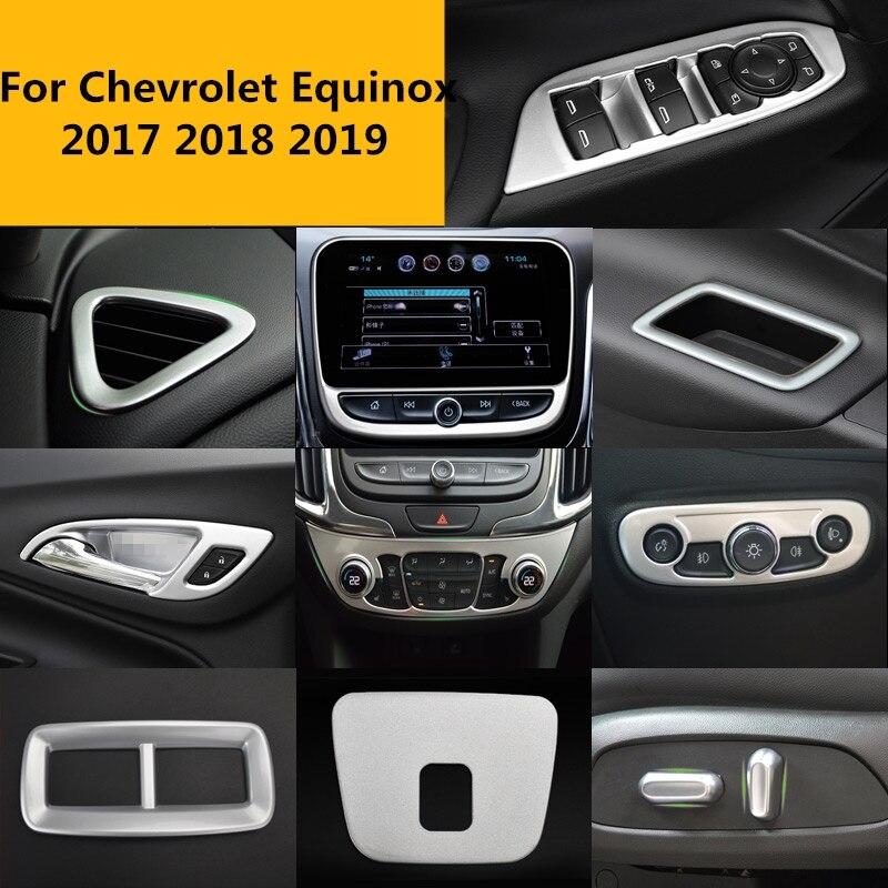 Para chevrolet equinox 2017 2018 2019 interior do carro completo molduras guarnição adesivo carro cobre acessórios decoração interior
