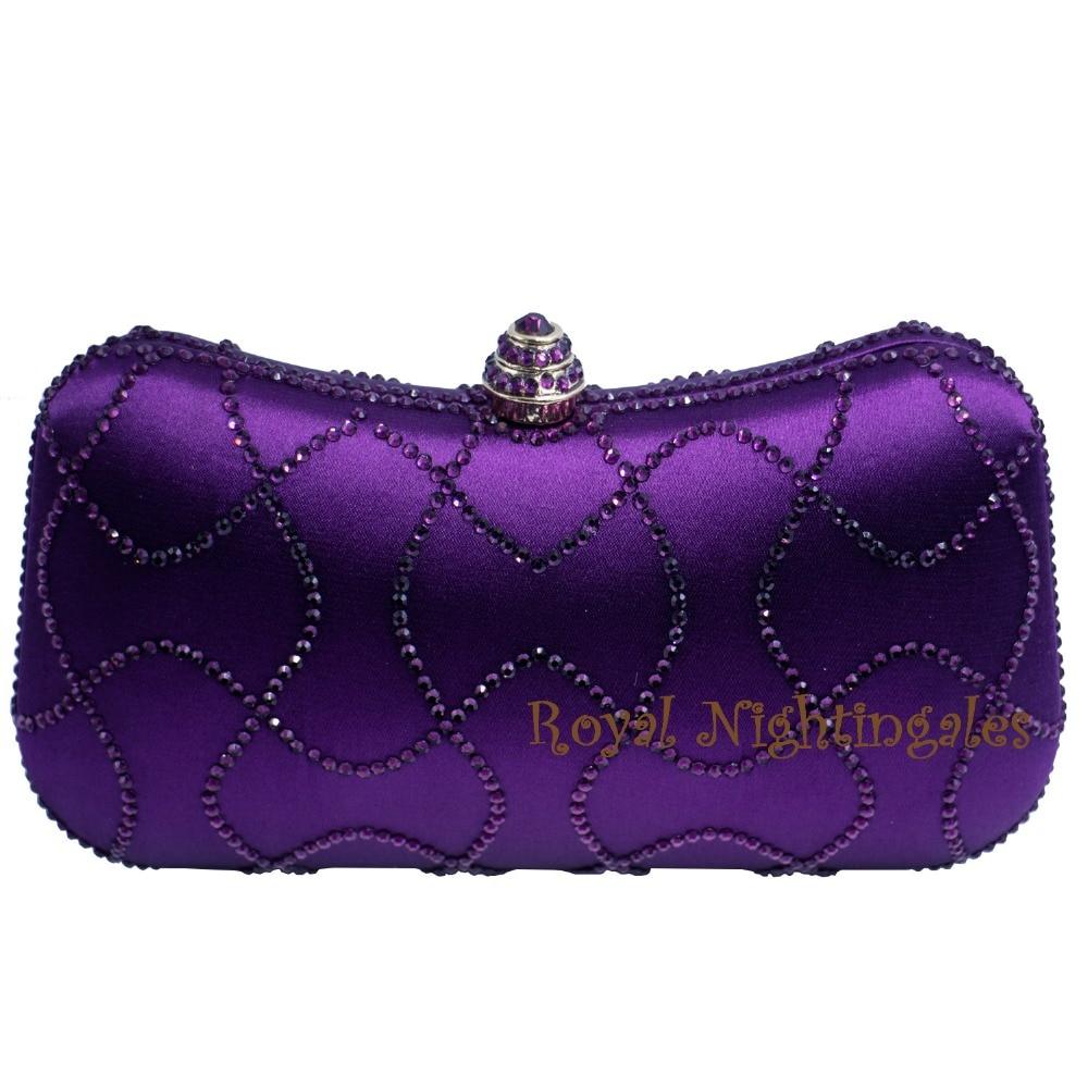 Новинка, Фиолетовые женские сумочки-клатчи с кристаллами, вечерние сумочки и сумки