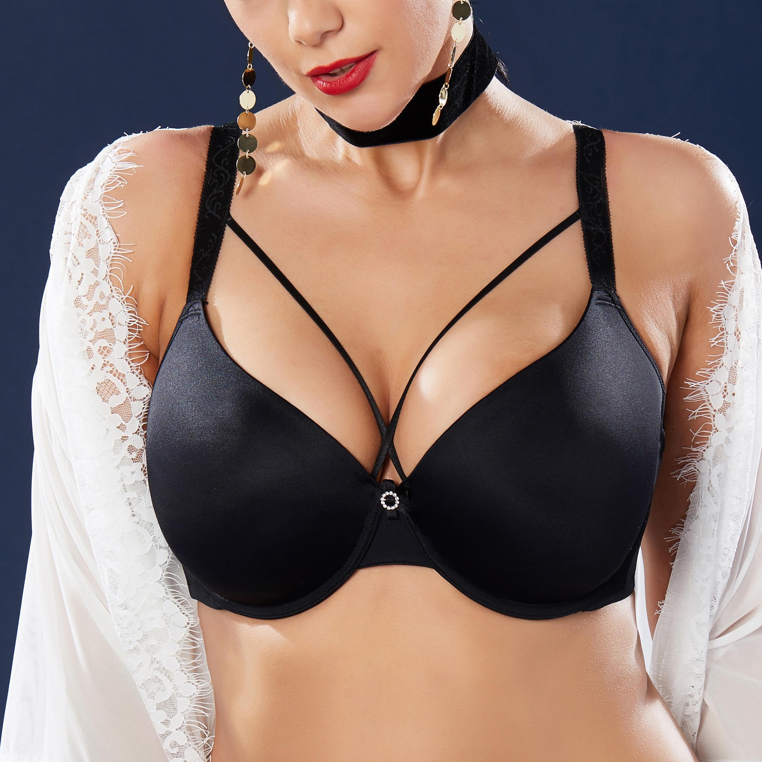 Women's Smooth Full Coverage Big Size T-Shirt Bra 34 36 38 40 42 44 46 B C D E F G