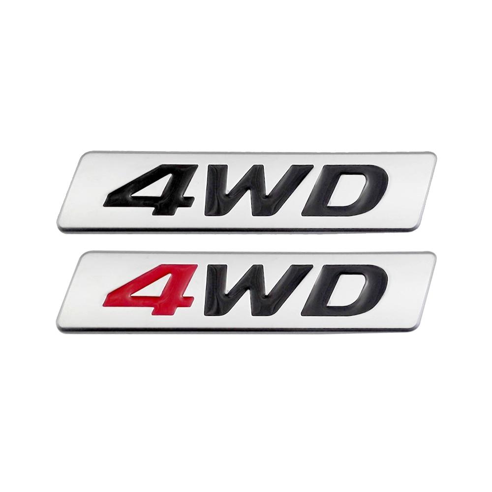 Estilo de coche 3D del coche de Metal de la etiqueta engomada emblema insignia 4WD logotipo para Abarth BMW Kawasaki Mitsubishi Lancer Nissan Renault Opel Volvo Roewe