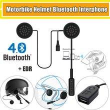 Casque de moto mains libres   Bluetooth, casque dinterphone, haut-parleurs de moto, casque musique