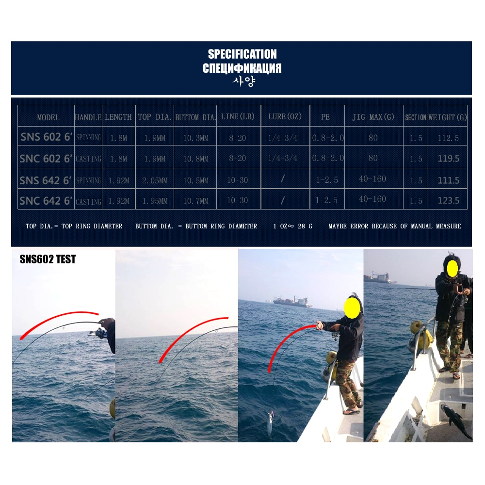 KUYING Sniper 1.8m 1.92m Light Slow Jigging Rod Casting Spinning Lure Carbon Fiber Sea Fishing Rods Cane Fish Pole 1.5 Sections enlarge