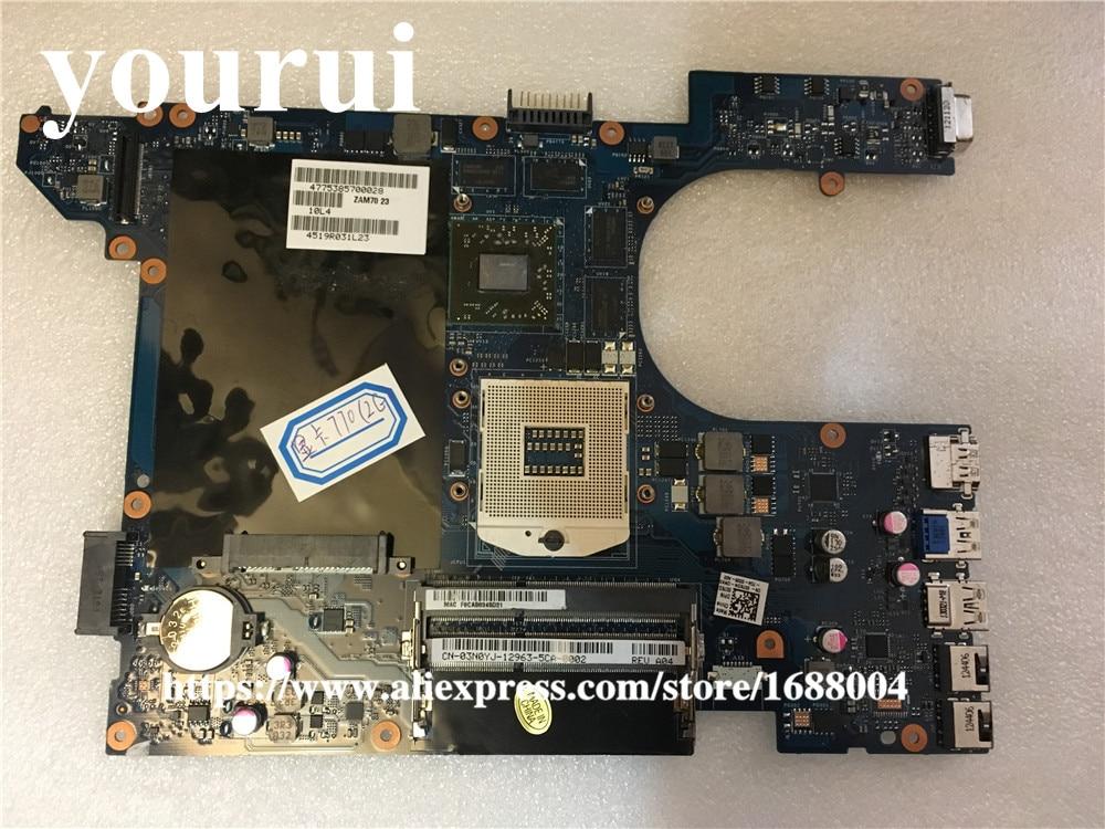 Para Dell 15R 7520 Placa base con HD7730M LA-8241P 4P57C DNMM8 (no 5520)