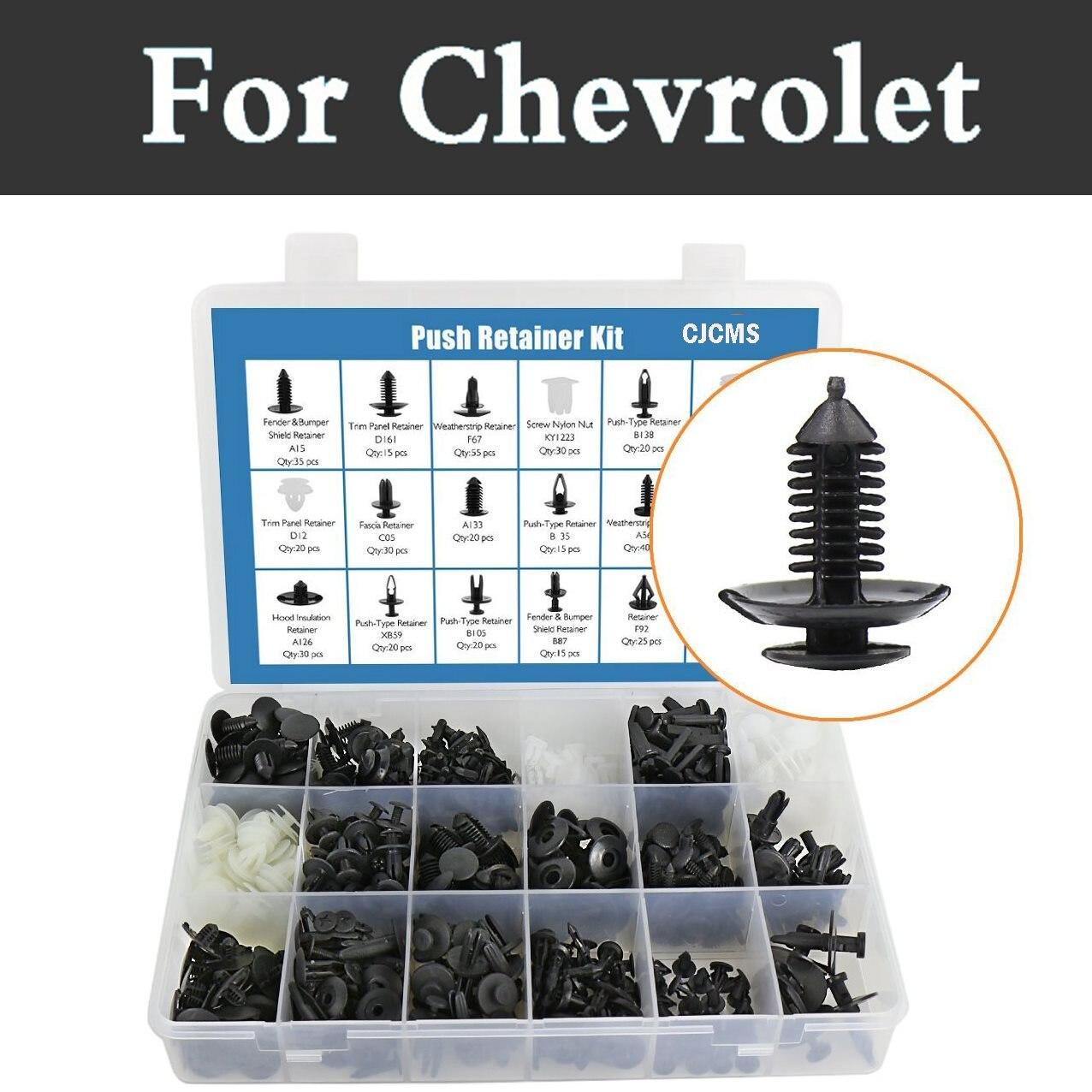 Herramienta de extracción de embellecedor para coche de 415 uds, Clips de remaches de empuje, Kit de remaches para Chevrolet SS suburbano Tahoe Tracker Traverse Viva Volt