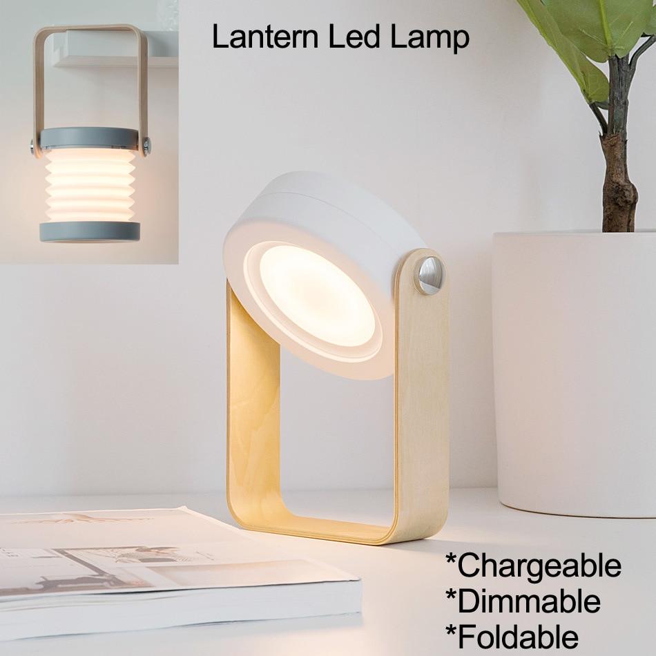 Luz de libro linterna mesa plegable de protección de ojos 2W recargable linterna USB led lámpara de noche lámpara de escritorio