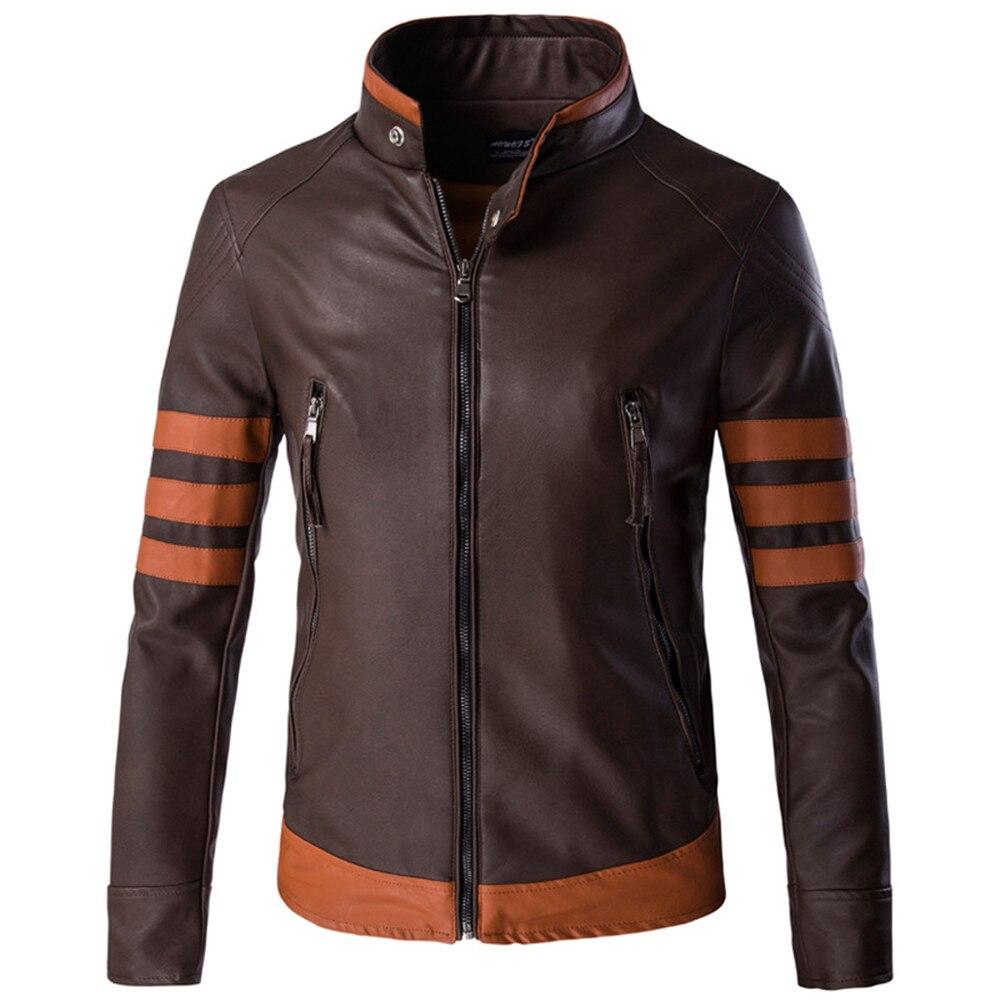 Disfraces de Wolverine Lobezno Logan Howlett, chaqueta de cuero PU para hombre, chaqueta Casual de Cosplay para hombre, chaquetas con cremallera de PU para motocicleta