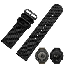 Bracelet de montre intelligent 24mm pour Suunto TRAVERSE qualité bracelet de montre en Nylon otan 3 anneaux avec boucle en acier