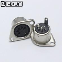EClyxun connecteur DIN femelle 10 pièces   5 broches, Jack femelle, adaptateur de câble, 5 broches, prise Jack, montage du panneau DIN Type de soudure, châssis femelle DIN