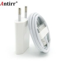 Antirr для iphone 4 USB зарядное устройство 30 pin штепсельная вилка ЕС AC для путешествий настенное зарядное устройство для iphone 4S 4 3GS iPod Nano/Touch 5V 1A