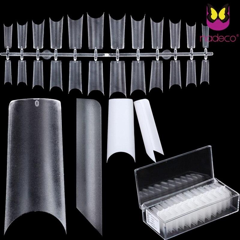 Ультратонкие прозрачные накладные акриловые накладные ногти, накладные ногти квадратной формы из АБС-пластика
