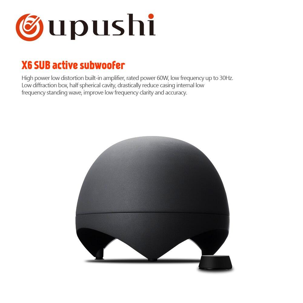 Oupushi X6-SUB نشط مضخم صوت الوسائط المتعددة المتكلم المدمج في مكبر للصوت