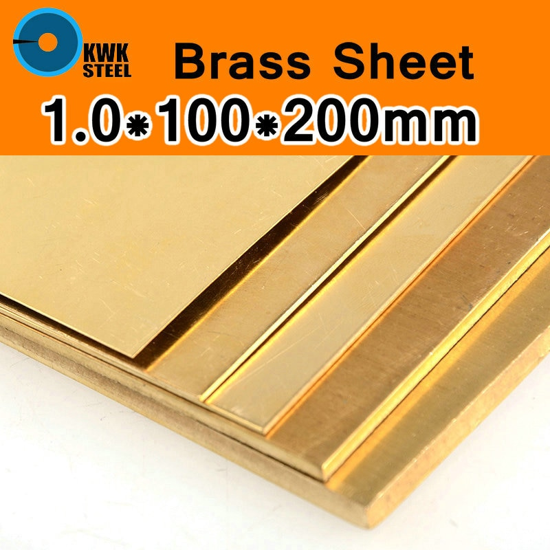 1*100*200mm chapa de bronze de cuzn40 2.036 cw509n c28000 c3712 h62 tamanho personalizado corte a laser cnc molde diy quadro metal