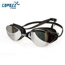 COPOZZ New Professional Swimming Goggles Anti-Fog UV Adjustable Plating men women Waterproof silicone glasses adult Eyewear