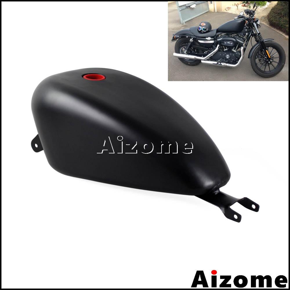 خزان الوقود الأسود EFI 3.3 غال للدراجة النارية Harley Sportster XL1200 XL883 SuperLow Iron 883 مخصص 72 48 2007-2016 خزان غاز البترول