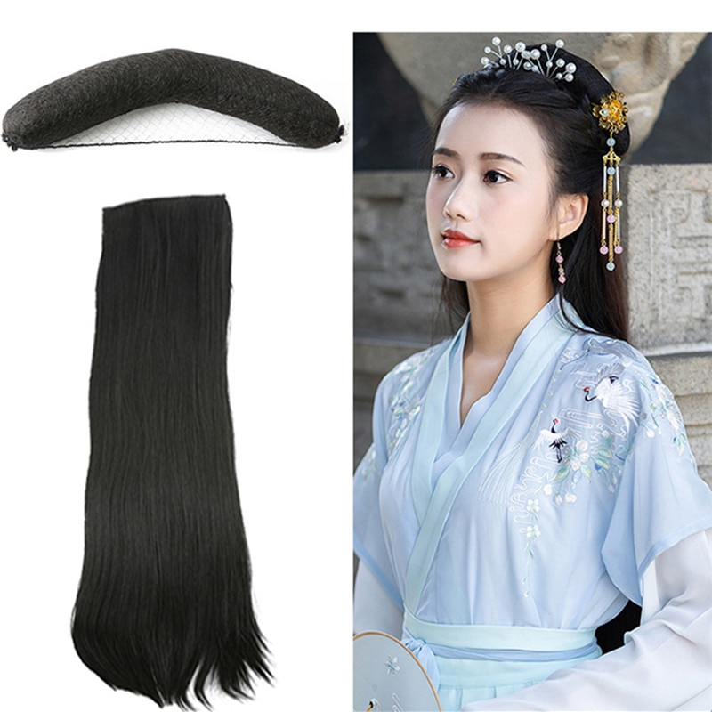 black princess hair products maid cosplay fairy hair accessories carnival party masquerade wear ancient chinese dynasty classic vintage hairpin hair accessories princess hair flower chinese ancient princess hair decoration han dynasty wear