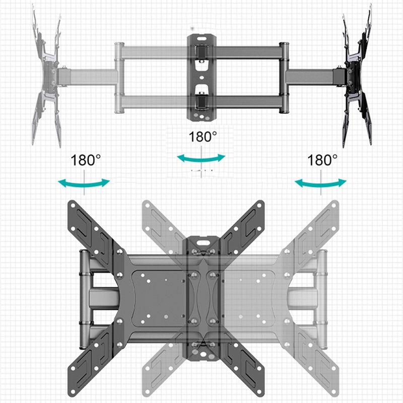 2020 New TV Wall Mount Bracket Flat Panel TV Frame Support 40kg 90 Degrees Swivel for 26-50 Inch LCD TV