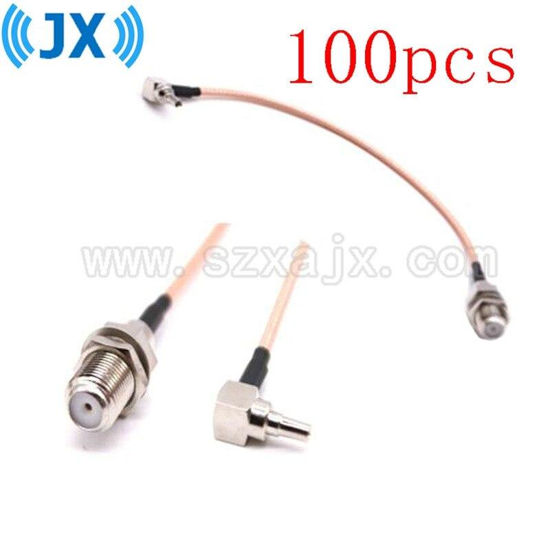 Atacado 100 pces f para crc9 cabo f fêmea para crc9 ângulo direito rg316 trança cabo 15cm para huawei 3g/4g usb modem transporte rápido