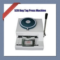 Manual Dog Tag embosser press printer machine 52D characters