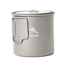 TOAKS 550 ml Pot en titane ultra-léger en plein air Camping bol tasse Pot 3 en 1 Ul Gear