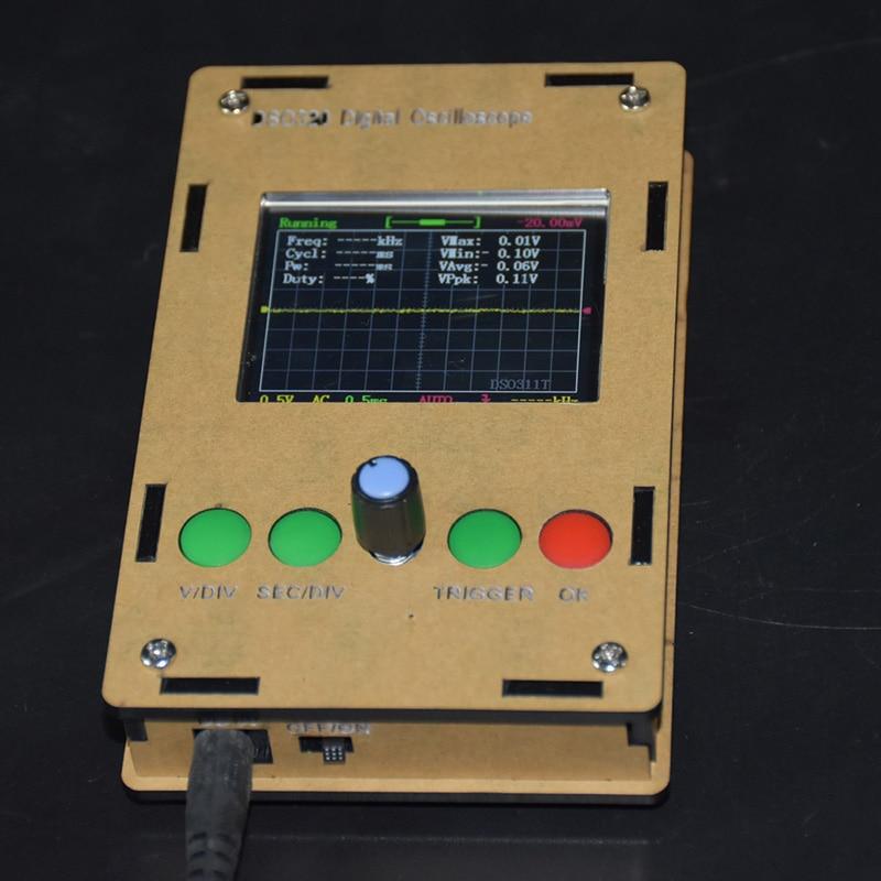 "Mini Kit de osciloscopio Digital 2,4 ""LCD STM32 Sonda de 12 bits con estuche DIY aprendizaje electrónico enseñanza práctica producción CaseBox"