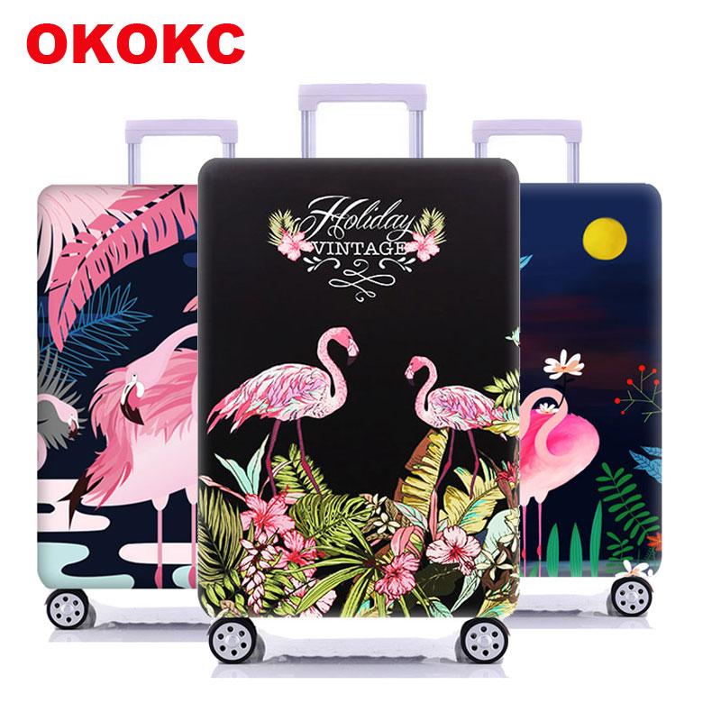 Чехол защитный чехол на чемодан с фламинго для путешествий, аксессуары для путешествий, эластичный пылезащитный чехол для багажа, подходит ... чехол